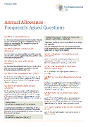 image of Annual Allowance FAQs